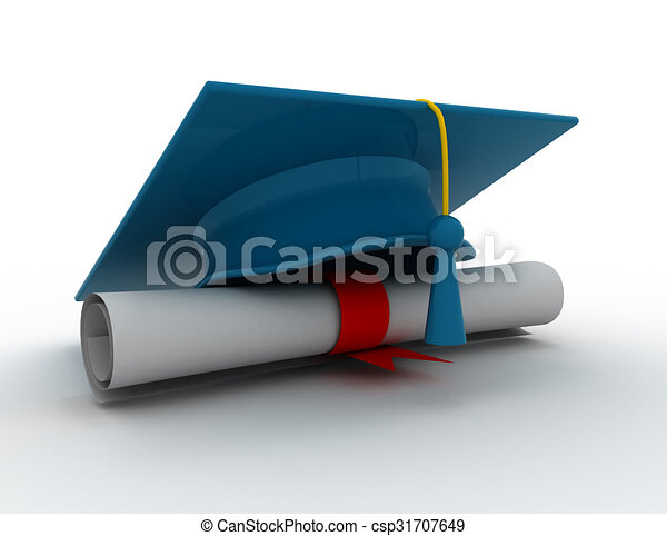 graduation cap diploma d illustration drawing search clip  graduation cap diploma 3d illustration