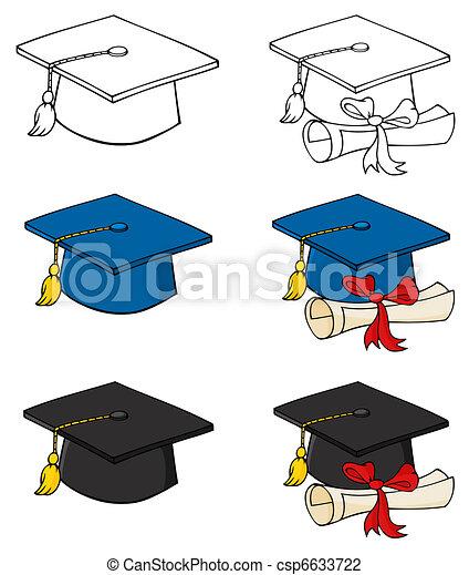 Graduation Caps - csp6633722