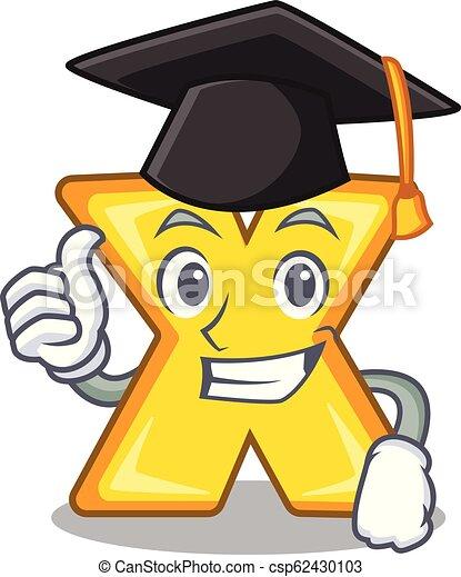 Graduation cartoon multiply of a delete sign - csp62430103