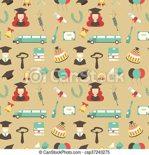 Graduation Celebration Pattern Background