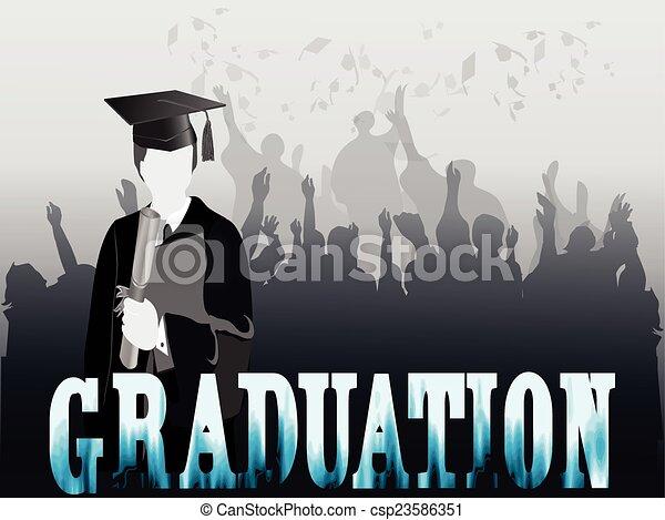 Graduation Celebration Silhouette Clipart