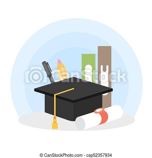 Graduation concept illustration. - csp52357934