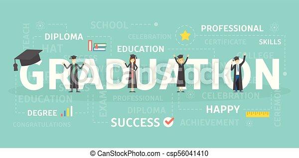 Graduation concept illustration. - csp56041410