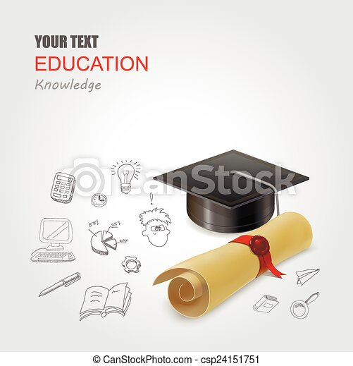 Graduation concept vector illustration infographic elements design - csp24151751