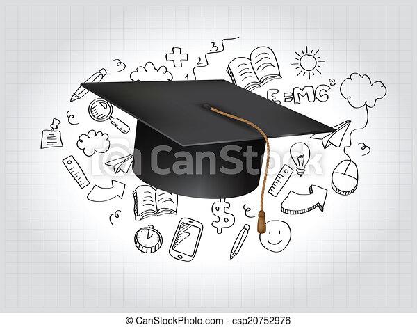 Graduation Concept Vector Illustration - csp20752976