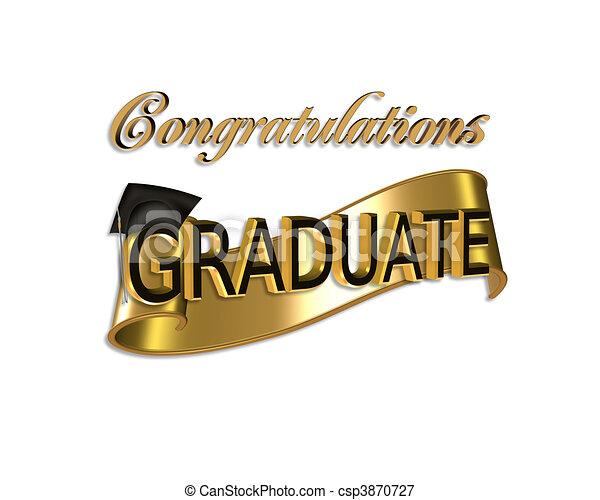 Graduation congratulations - csp3870727