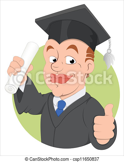 Graduation Day Vector Character - csp11650837