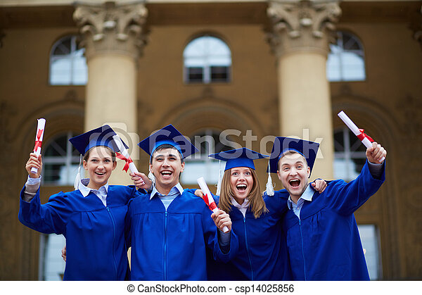 Graduation excitement - csp14025856