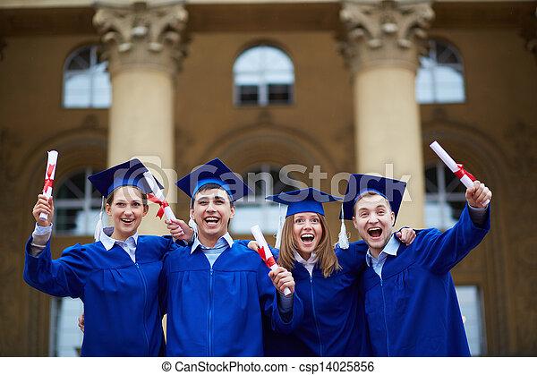 Graduation excitement - csp14025856