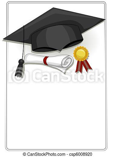 Graduation frame. Frame design featuring graduation related items.