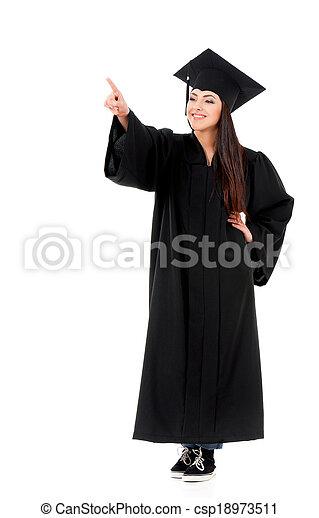 Graduation girl - csp18973511