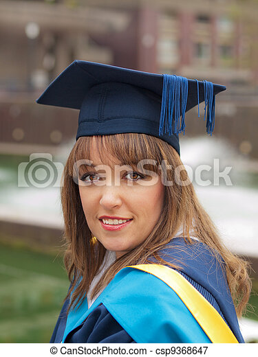 Graduation girl  - csp9368647
