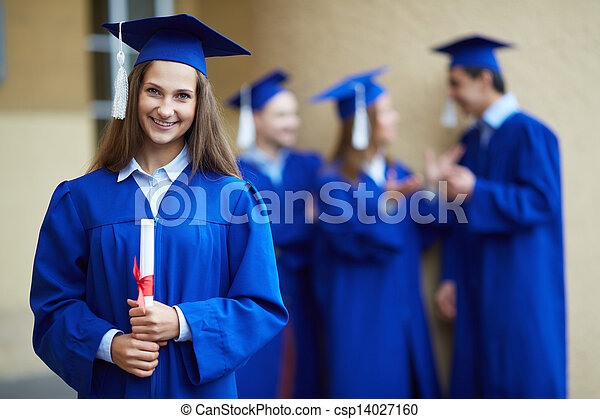 Graduation girl - csp14027160