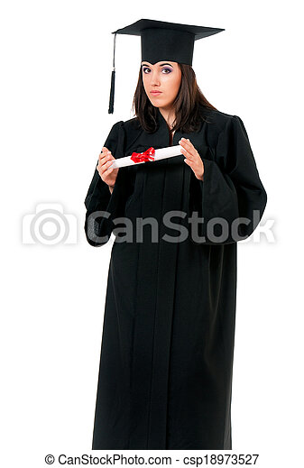 Graduation girl - csp18973527