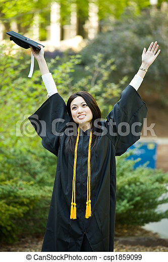 Graduation girl - csp1859099