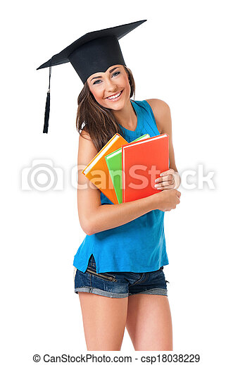 Graduation girl student - csp18038229
