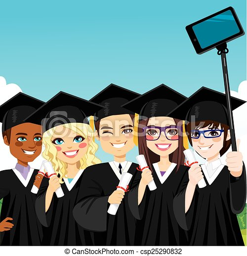 Graduation Group Selfie - csp25290832