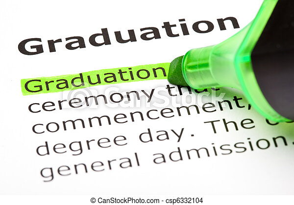 'Graduation' highlighted in green - csp6332104