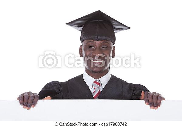 Graduation Man With Bill Board - csp17900742