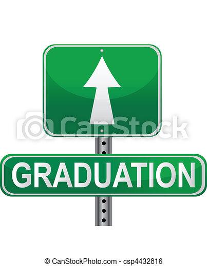 Graduation street sign - csp4432816