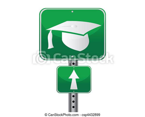 Graduation street sign - csp4432899