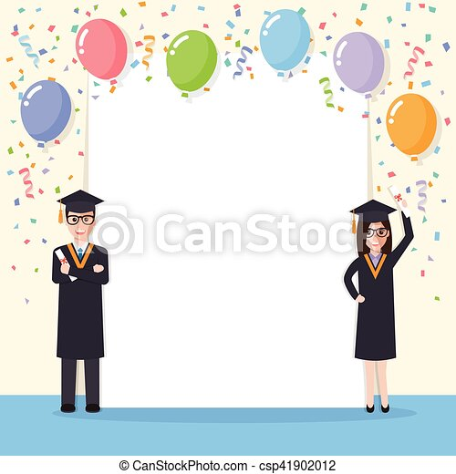 Graduation Students Celebration Young School College And