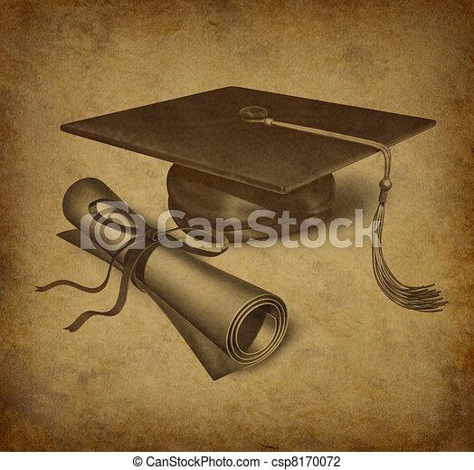 Graduation symbol - csp8170072