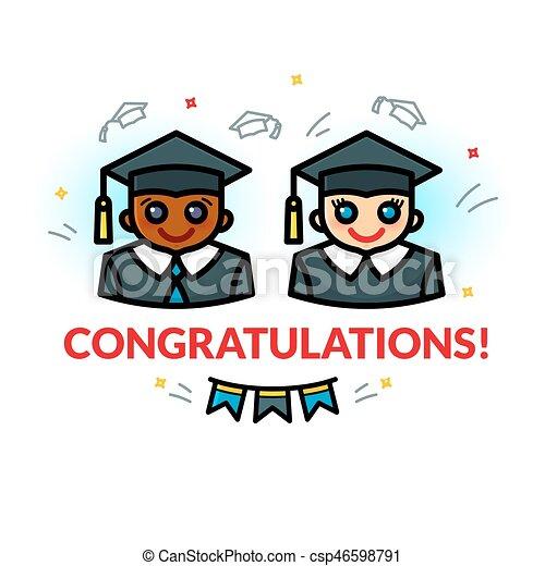 Graduation vector illustration - csp46598791