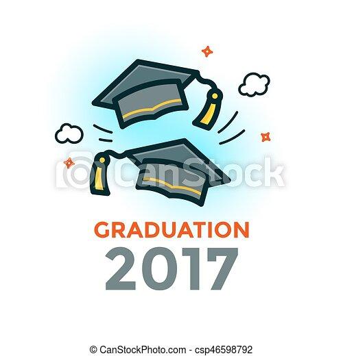Graduation vector illustration - csp46598792