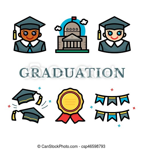 Graduation vector illustration - csp46598793