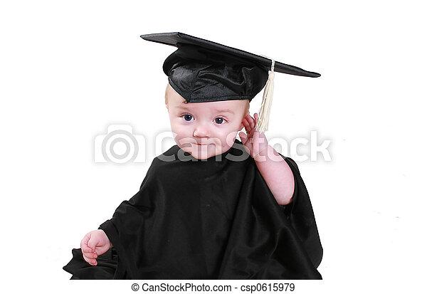 graduazione, bambino - csp0615979
