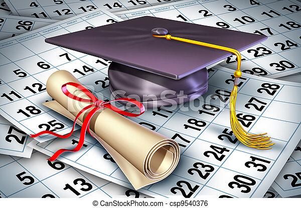 graduazione, tempo - csp9540376