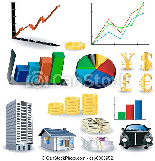 grafer, verktyg, statistik, utrustning - csp8008952