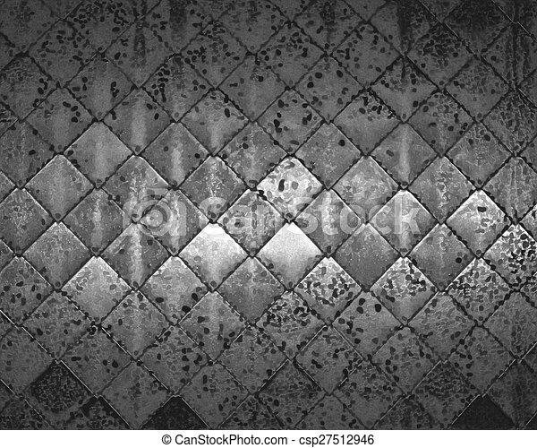graffiato, vecchio, metallo, struttura, bordi, ombreggiato - csp27512946