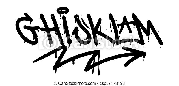 Graffiti Alphabet Set Street Type Calligraphy Design