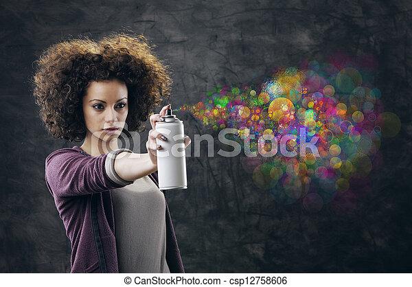 Graffiti artist - csp12758606