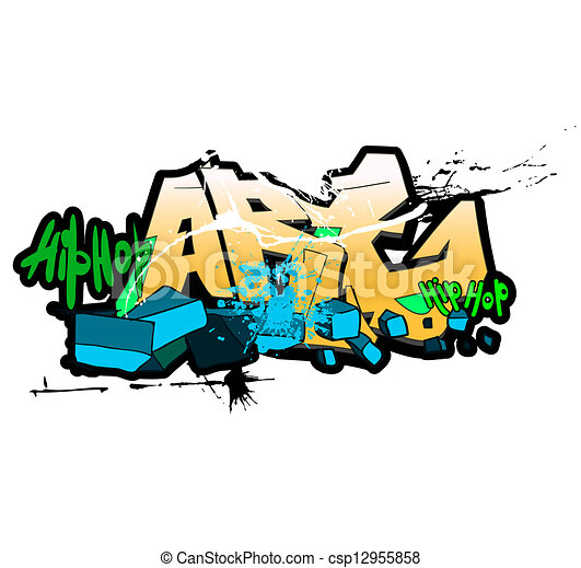 Graffiti background, urban art - csp12955858