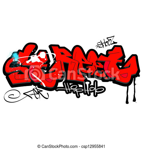 Graffiti background, urban art - csp12955841