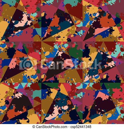 Graffiti Background Urban Art. Seamless texture - csp52441348