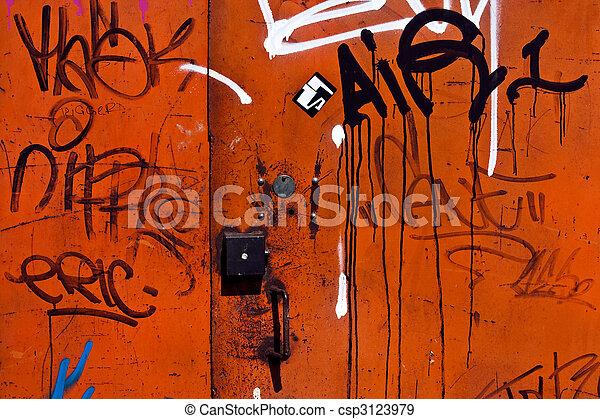 graffiti, bakgrund - csp3123979