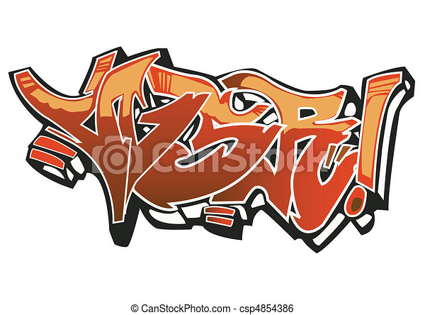graffiti art design on the white background my own clip art rh canstockphoto com vector graffiti alphabet vector graffiti art personalized