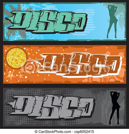 Graffiti Disco Banner - csp6052415