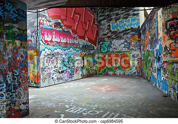 graffiti, kleurrijke - csp6984595