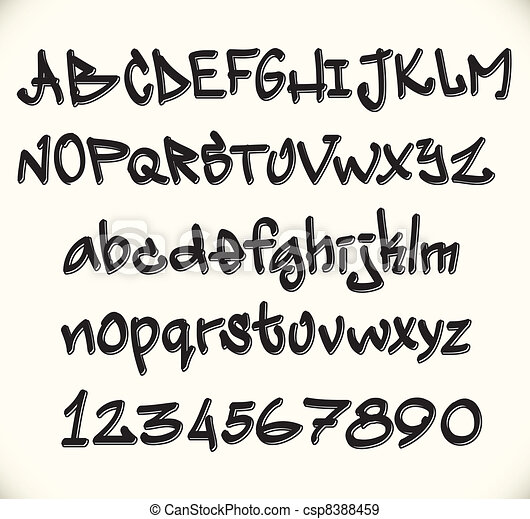 Graffiti police lettres abc alphabet - Lettre graffiti modele ...