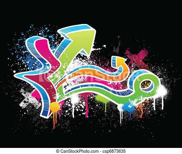 Graffiti sketch - csp6873635