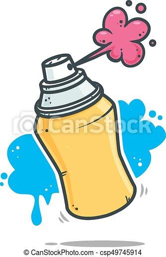 graffiti spray yellow graffiti spray vector illustration