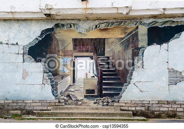 Graffiti street art - csp13594355