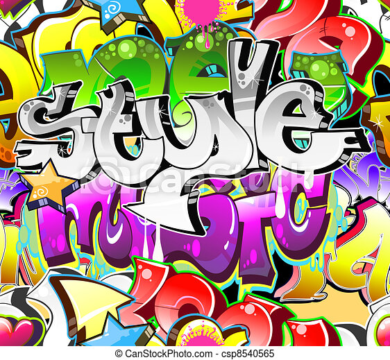 Graffiti Urban Art Background. Seamless design - csp8540565