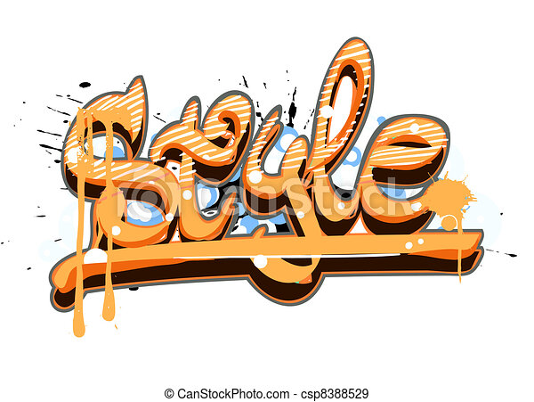 Graffiti urban art - csp8388529