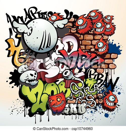 graffiti urban art elements - csp10744960